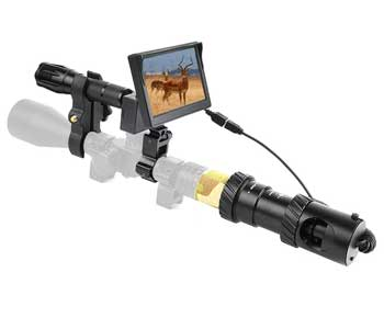 Bestsight DIY Digital Night Vision Scope for Rifle Hunting with Camera and 5 inch Portable Display Screen