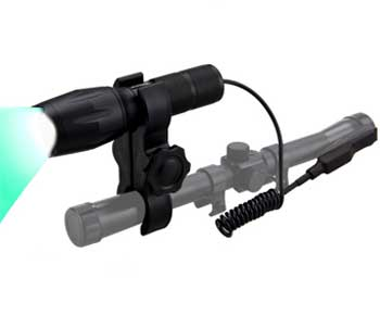 VASTFIRE 350 Yard Green Hunting light Zoomable Flashlight