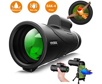Monocular-Telescope---12X50-High-Power-with-Smartphone-Holder-&-Tripod