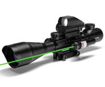 UUQ-C4-12X50-Rifle-Scope-Dual-Illuminated-Reticle-with-Green-Laser-Sight-and-Holographic-Dot-Reflex-Sight